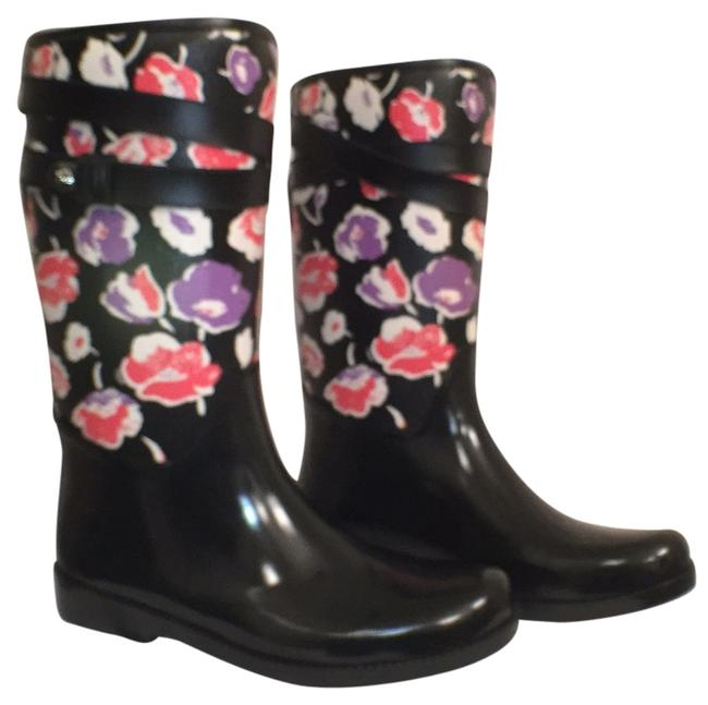 Item - Black Multi New Trisha 11 Rubber Floral Coated Canvas Boots/Booties Size US 10 Regular (M, B)