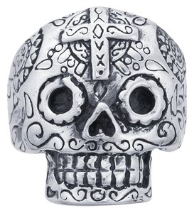 Other Sterling Silver Gent's Sugar Skull Ring
