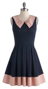 Modcloth short dress Navy and pink on Tradesy