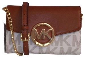 Michael Kors Leather Signature Logo Mk New Cross Body Bag