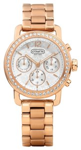 Coach Coach Legacy Rose Gold Stainless Chronograph Watch 14501884