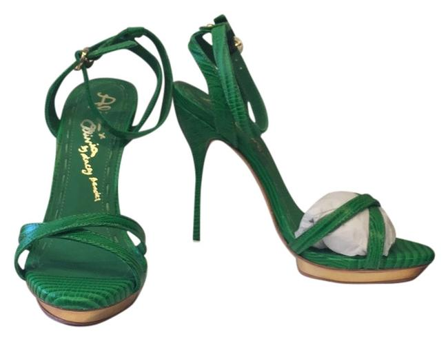 Item - Green Paola Strappy Sandal Formal Shoes Size US 7 Regular (M, B)