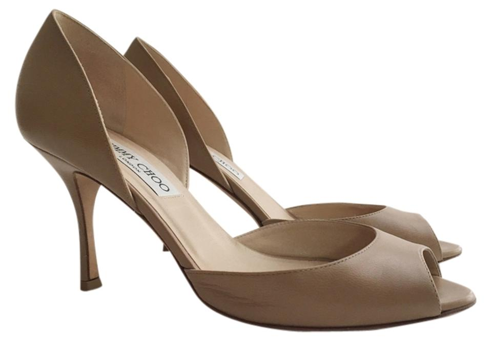 8d60baa1470 Jimmy Choo Nude Logan D orsay Peep Toe 37 Pumps Size US 7 Regular (M ...