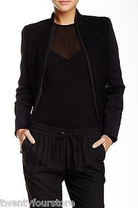 J Brand Haley Jacket In W Scuba Sleeves Coat