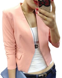 Other Casual Suit Jacket Large Small Pink Jacket Black Jacket Blazer Top Hot Pink/Light Pink/Black/Yellow