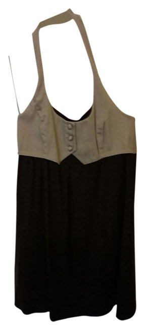 Item - Tan & Chocolate/New Halter Short Casual Dress Size 10 (M)
