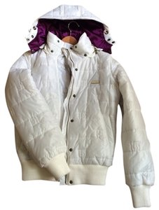 Burton Snowboarding Womens Jacket White Jacket Skiing Jacket Coat