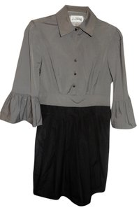 Joseph Ribkoff Gunmetal Buttons Dress