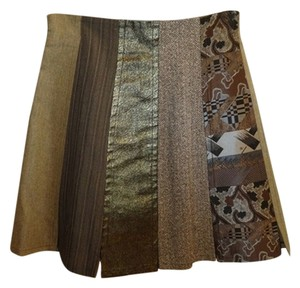 Christian Lacroix Vintage Mini Skirt Muliticolor brown