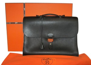Hermès Birkin Kelly Laptop Steve Computer Tote in Black