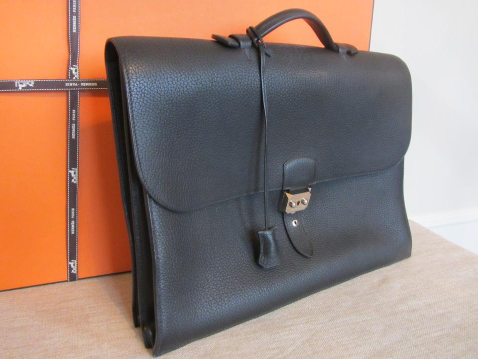 hermes knockoffs - Herm��s Sac A Depeches Togo Leather Briefcase/messenger - And ...