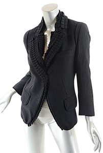 Ann Demeulemeester Accordian Black Jacket