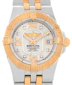 Breitling Breitling Galactic 30 Ladies Steel 18K Rose Gold Diamond Watch C71340