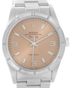 Rolex Rolex Air King Salmon Dial Stainless Steel Mens Watch 14010