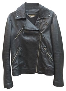 Alexander McQueen Womens 2014 Leather Motorcycle Jacket