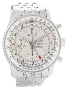 Breitling Breitling Navitimer World GMT Silver Dial Watch A24322 Box Papers