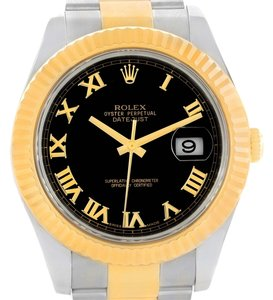 Rolex Rolex Datejust II Mens Steel 18K Yellow Gold Watch 116333 Box Papers