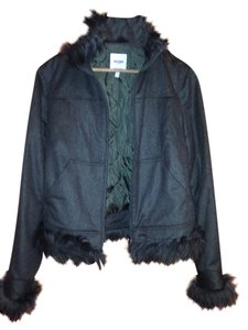 Moschino Italy Italian Wool Fall Fur green Jacket