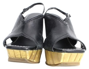 Jessica Simpson Heels Beach Fun Black Wedges