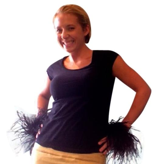 Other Black Ostrich Feather pair of cuffs