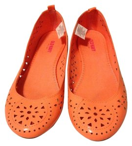 Old Navy Patent Leather Ballet Neon Orange Sherbet Flats
