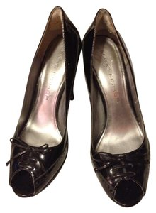 Marc Fisher Black Patent Leather Platforms