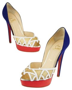 Christian Louboutin Ekaia Glitter Platform Multicolored Pumps