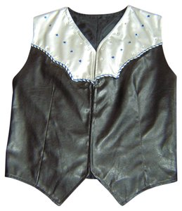 Other Western Small Satin Pu Stars Rhinstones Vest