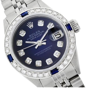 Rolex Rolex Stainless Steel Diamond and Sapphire DateJust