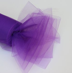 Purple Tulle Huge Roll - 100 Yd X 6 In Purple Tulle Spool - Tulle Roll Free Ship