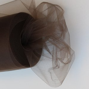Brown Tulle Huge Roll - 100 Yd X 6 In Brown Tulle Spool - Tulle Roll Free Ship
