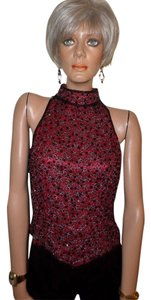 Papell Boutique Top Merlot