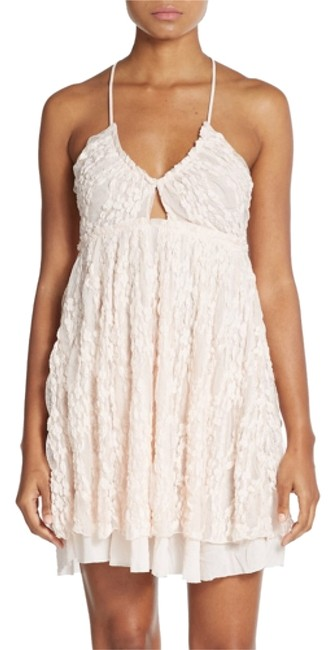 Item - Pale Pink Chloe Lace Overlay Crossback Slip Above Knee Short Casual Dress Size 4 (S)