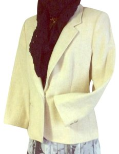 Breckenridge Vintage Light Beige Wool 1 Button 8 cream Blazer
