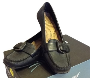 Dockers Buckle Casual Comfortable Black Flats