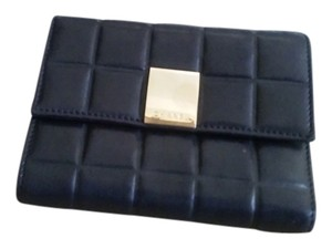 Chanel Leather Wallet CC Logo Gold Hardware GHW Coin Purse Bi Fold Bill Yen Bag woc