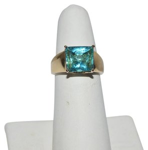 Technibond Technibond Simulated Paraiba Tourmaline Gemstone Ring size 7