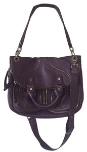 Lockheart Foldover Convertible Travel Crossbody Satchel in Purple
