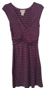 Max Studio short dress Purple and White on Tradesy