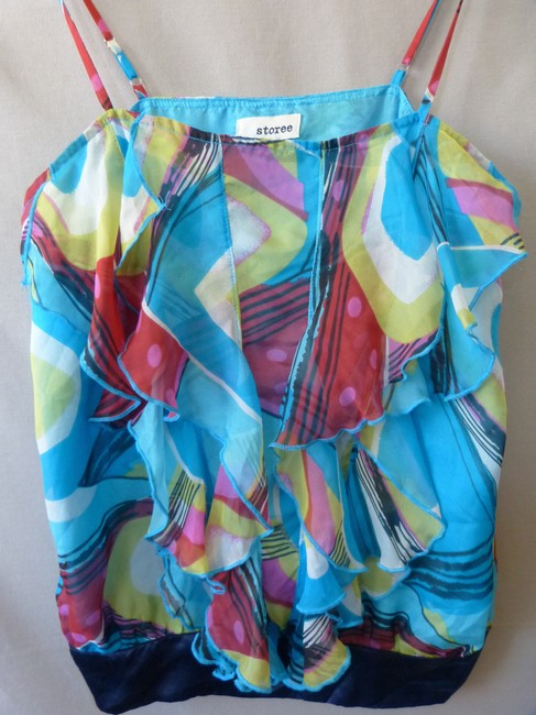 Storee Abstract Pink Red Top