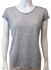 AMS Pure Heather Mesh Tank Cami Short Sleeve T Shirt Grey