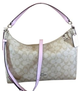 Coach Nwt East/west Celeste Convertible Hobo Signature 34899 F34899 Chalk White Cross Body Bag