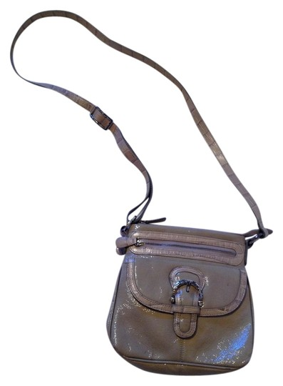 Preload https://item5.tradesy.com/images/brighton-patent-leather-cross-body-bag-taupe-1242154-0-0.jpg?width=440&height=440