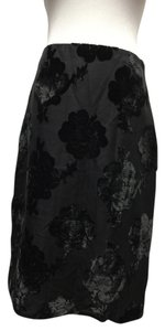 Prada Cocktail Velvet Skirt Black/Charcoal