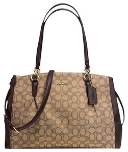 Coach Carryall Christie Satchel in Khaki Brown signature