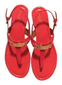 Coach Patent Leather Coral Sandals