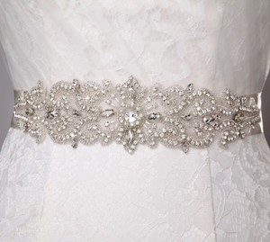 Pearls And Crystals Bridal Sash Bridal Belt