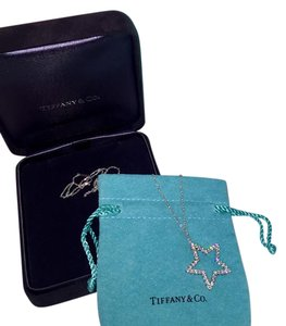 Tiffany & Co. Diamond Star Platinum Pendant Necklace