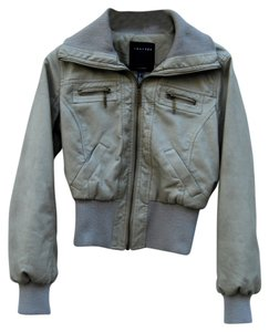 Therapy Aviator Warm Taupe Leather Jacket