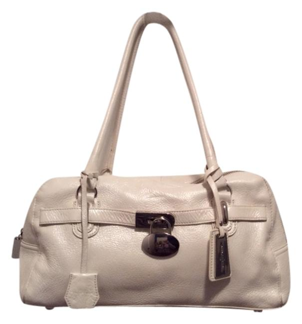 Leather White Tote Leather White Tote Image 1
